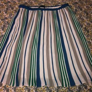 Midi Skirt from Banana Republic; Multicolored